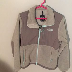 North face gray fleece jacket